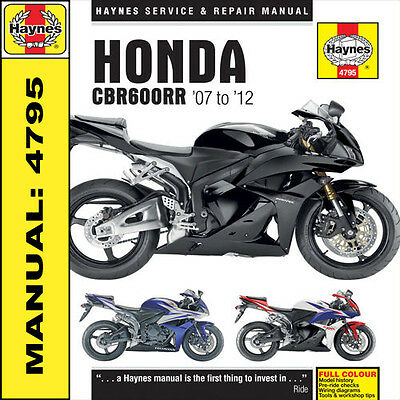 Haynes Honda CBR600RR 2007-2012 Manual 4795 NEW