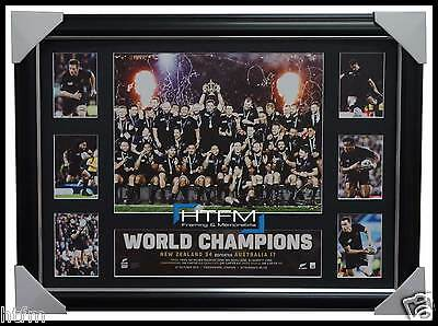 All Blacks 2015 World Cup Rugby Champions Official Tribute Frame - Carter Mccaw