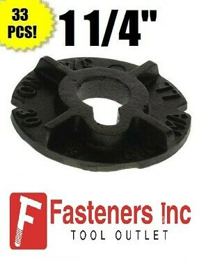 "(Qty 33) 1 1/4"" Round Malleable Washer Malleable Iron Plain Finish (40 LB Box)"