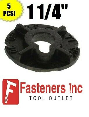 "(Qty 5) 1 1/4"" Round Malleable Washer Malleable Iron Plain Finish"
