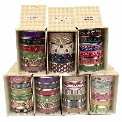 5x 10mm Grosgrain Ribbon Box Sets! Baby Theme Printed Patterned