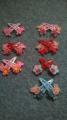 Peppa pig hair clips girls hair clips parties supplies NEW 8 designs to choose