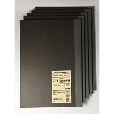 MUJI Notebook A5 5mm-grid 30sheets - Pack of 5books New