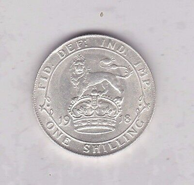 1918 George V Silver Shilling In Extremely Fine Or Better Condition