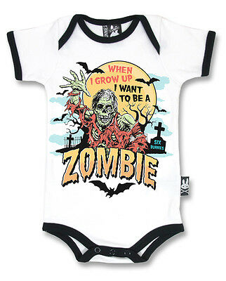 Six Bunnies zombie vest alternative baby clothes goth rock punk metal horror