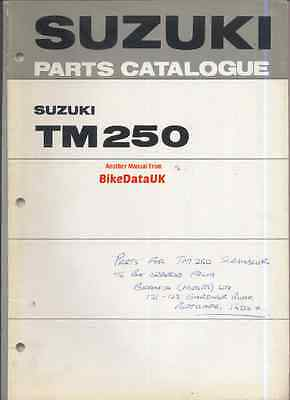 Suzuki TM250-J/K (1972-1973) Parts List/Catalogue TM 250,Twin-Shock (pre RM/PE)