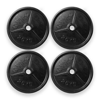 BodyRip OLYMPIC WEIGHT PLATES 4 x 20kg DISC WEIGHTS EXERCISE GYM TRAIN FITNESS