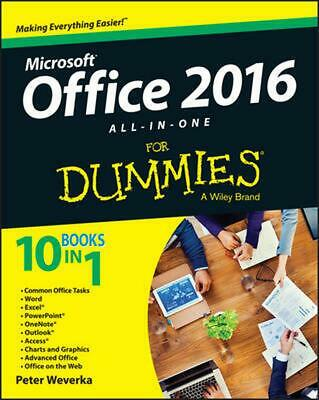 Office 2016 All-in-one for Dummies by Peter Weverka (English) Paperback Book Fre