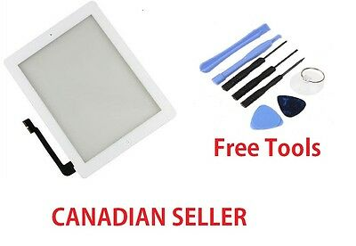 Replacement for iPad 3/4 Touch Screen Glass Display Digitizer White + Free Tools