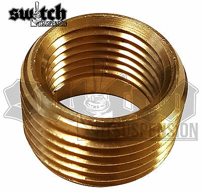 Brass Pipe Fitting 1/2 NPT Male to 3/8 NPT Female Reducer Face Bushing