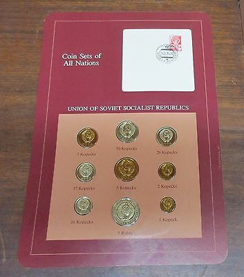 Coin Sets of All Nations - Union of Soviet Socialist Republics Russia Card