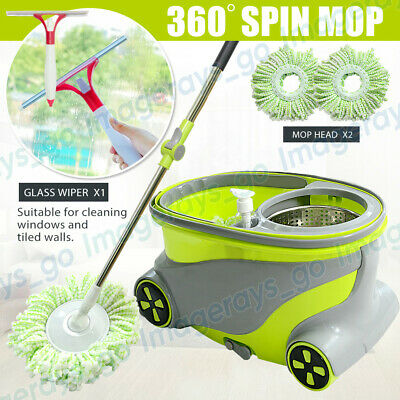 Spin Dry Mop HANDLE Magic 360° Rotating Microfiber Dust Cleaning Mop Bucket Head