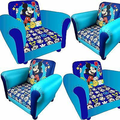 Childrens Mickey Mouse Cartoon Kids Armchair Childs Upholstered Sofa Seat Chair