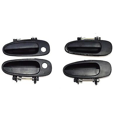 2X Exterior Outside Black Front Left Right Door Handles for 03-08 Toyota Corolla