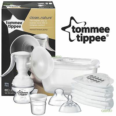 Tommee Tippee Closer To Nature BPA Free Manual Breast Pump With Milk Storage
