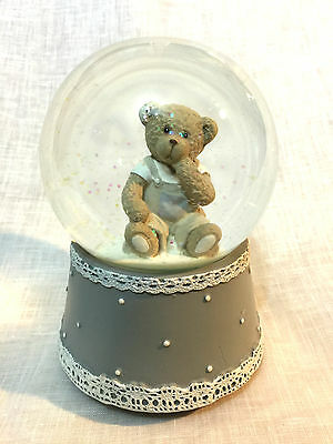 Classic Teddy Snow Globe (A) - MUSICAL - LARGE