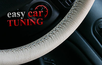 For Mercedes Clk 2003-2009 Beige Real Genuine Leather Steering Wheel Cover Glove