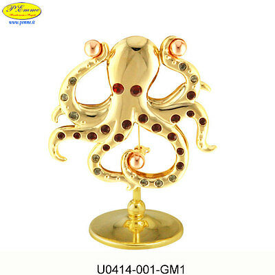 Octopus Gold Crystocraft Swarovski Elements