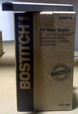 "Bostitch Sccr25 1/4"" Staples (5,000 Per Box)"
