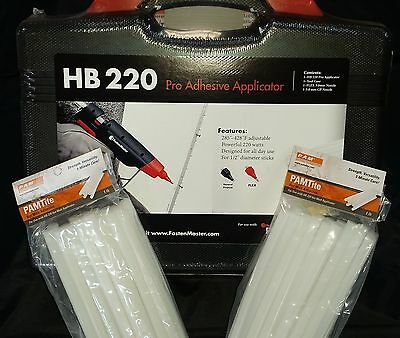 HOT MELT GLUE GUN KIT FASTENMASTER/Pam HB220 and 36 Flex 40 Glue Sticks