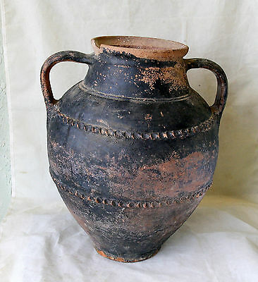 ANTIQUE MEDIEVAL GREEK Large REDWARE Pottery Ceramic TRANSPORT AMPHORA #3