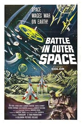 """BATTLE IN OUTER SPACE SCI-FI MOVIE POSTER 12/"""" X 18/"""""""