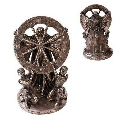 Ancient Celtic Moon Goddess Arianrhod Figurine Cosmic Wheel Of The Year Statue