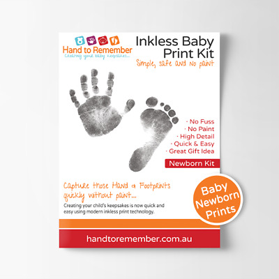 Baby Inkless Print Kit - Newborn Hand & Footprint keepsake