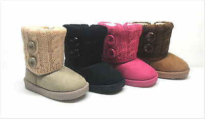 Brand New Infant/Toddler Baby Girl's Winter Fashion Boots Size 5 - 10