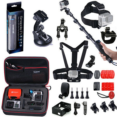 Smatree 29-in-1 Sport Accessories Bundle Kits for GoPro Hero 4 3+ 3 2 1 Cameras