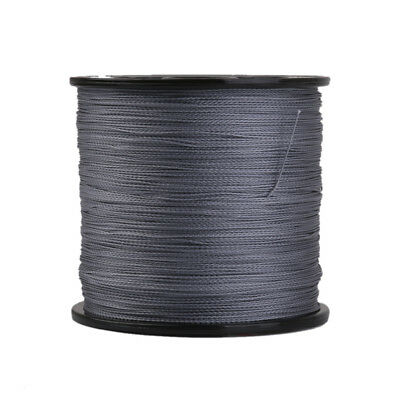 Gray 300m / 328yd PE Braided Sea Fishing Line Cord Super Strong 0.26mm 30LB