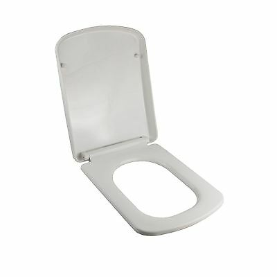 Luxury Square Cube Soft Close Heavy Duty Toilet Seat With Top Fixing