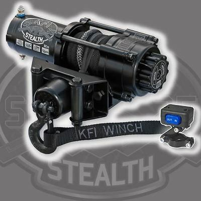 KFI Stealth 2500 Synthetic Winch + Mount- Arctic Cat 400/454/500 1998-2001