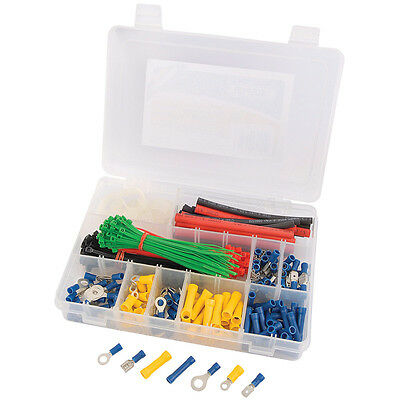 Electrical Blade Terminal Connector Heat Shrink Assorted Blue Yellow Set Pack