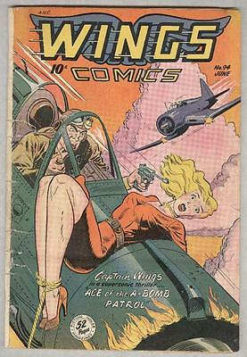 Wings #94 June 1948 G/VG Classic cover