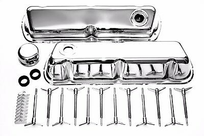 SBF 289 302 351W 5.0 Chrome Engine Dress-Up Kit w/ Valve Covers & Wing Nuts