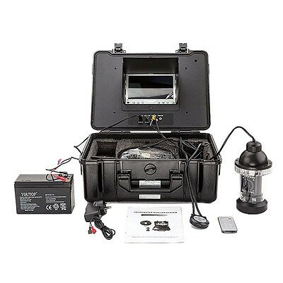 "164ft Underwater Video Camera Fishing Waterproof System 7"" LCD Colour Monitor"