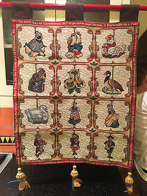1 Christopher Radko Twelve 12 Days of Christmas Ornaments Tapestry Free shipping
