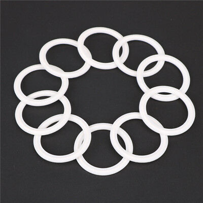 "10PCS SANITARY CLAMP PTFE GASKET 2""/51mm TEFLON 450* F DAIRY BREWING TRI CLOVER"