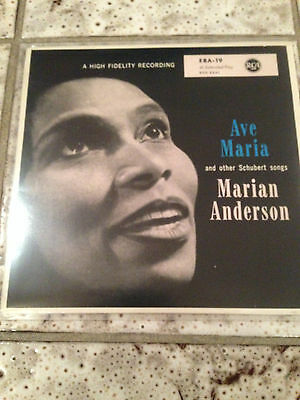 MARIAN ANDERSON: Ave Maria and other Schubert songs (EP RCA ERA-19 / Mono / NM)