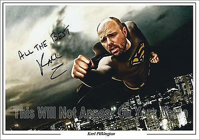 An Idiot Abroad Karl Pilkington Signed Photo, 1st Generation  Pre-Print TV  A4