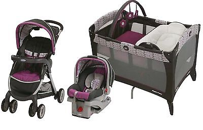Graco Baby Stroller with Car Seat Nursery Playard Travel System