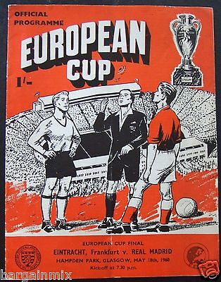 Eintracht Frankfurt v Real Madrid European Cup Final 1960 Official Programme