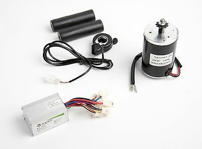 24V 150W MY6812 Electric Motor w Sprocket, Speed Controller & Thumb Throttle DIY