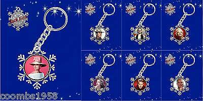 Golden Age Of Hollywood Icons Snowflake Keyring