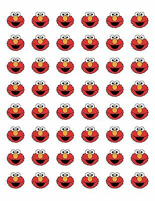 "48 Sesame Street Elmo Envelope Seals Labels Stickers 1.2"" Round"