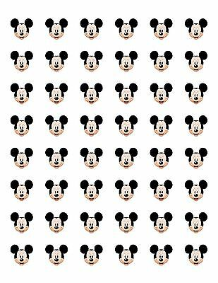 "48 Mickey Mouse Face Envelope Seals Labels Stickers 1.2"" Round"
