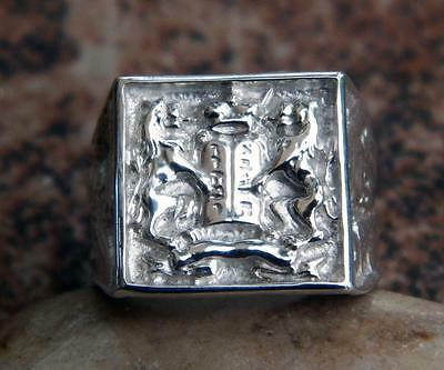 Argentium Sterling Silver Ten Commandments Judaica Men's Ring David Kabbalah