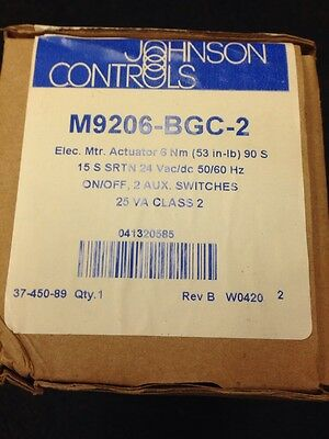 Johnson Controls M9206-BGC-2 Electric Spring Return Linear Actuator New in Box