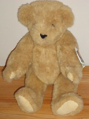 """Vermont Teddy Bear 16"""" jointed plush Vintage 1992 w/Tags"""